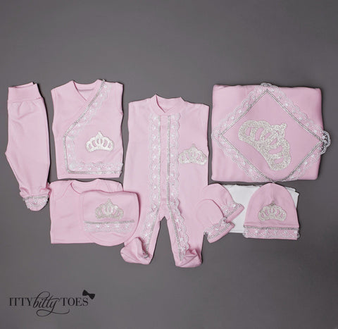 Pink Princess 10 Piece Newborn Set - Itty Bitty Toes  - 1