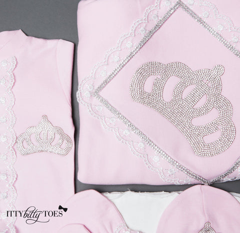 Pink Princess 10 Piece Newborn Set - Itty Bitty Toes  - 4