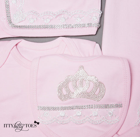 Pink Princess 10 Piece Newborn Set - Itty Bitty Toes  - 6