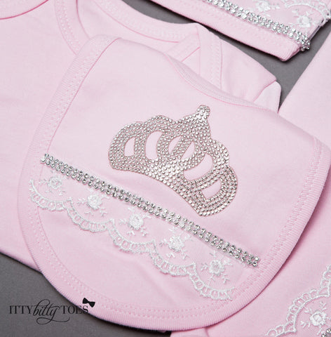 Pink Princess 10 Piece Newborn Set - Itty Bitty Toes  - 7