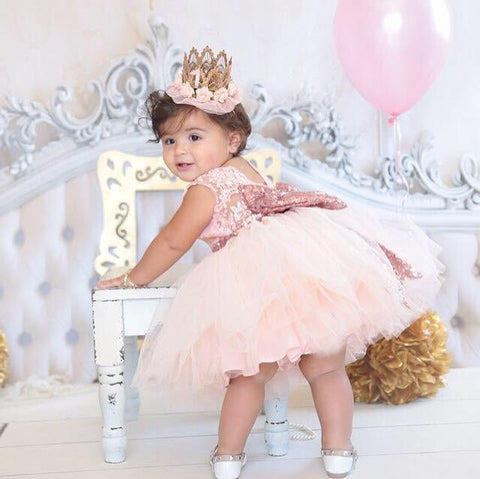 Princess Aisha Dress (Rose Gold) - Itty Bitty Toes  - 5