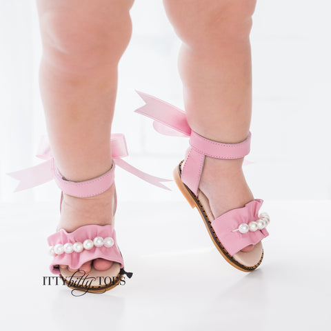 Ruffled Sandals (Pink)