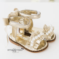 Ruffled Sandals (Gold)