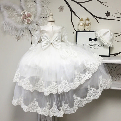 Briana Christening Gown - Itty Bitty Toes  - 4