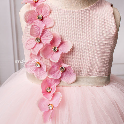 Angel Dress (Pink) - Couture - Itty Bitty Toes
