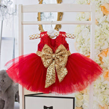 Princess Aisha Dress (Red) - Couture - Itty Bitty Toes