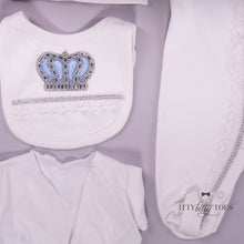 White & Blue 10 Piece Newborn Set