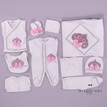 White & Pink 10 Piece Newborn Set