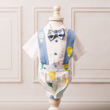 Hot Air Balloon Suspender Set - Couture - Itty Bitty Toes