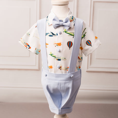 Up and Away Airplane Suspender Set