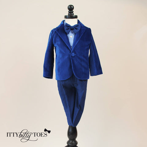 Charles Suit (Blue) - Itty Bitty Toes  - 1