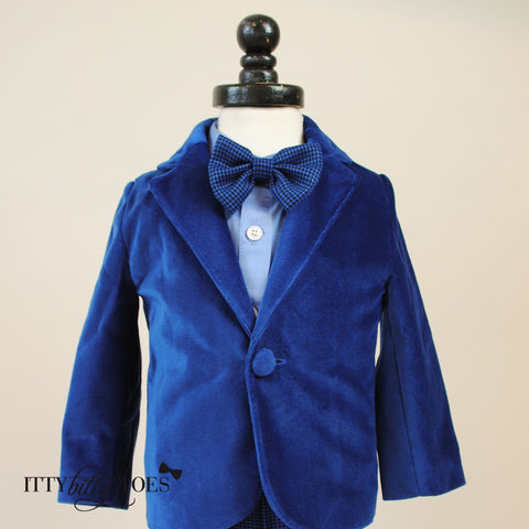 Charles Suit (Blue) - Itty Bitty Toes  - 6