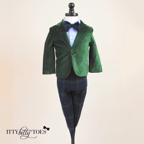 Charles Suit (Green) - Itty Bitty Toes  - 1