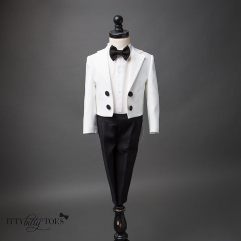 Charles Suit (Black & White) - Itty Bitty Toes  - 1