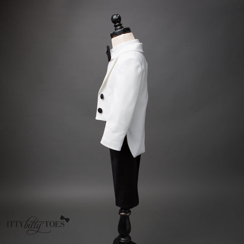 Charles Suit (Black & White) - Couture - Itty Bitty Toes