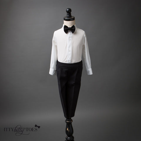 Charles Suit (Black & White) - Itty Bitty Toes  - 5