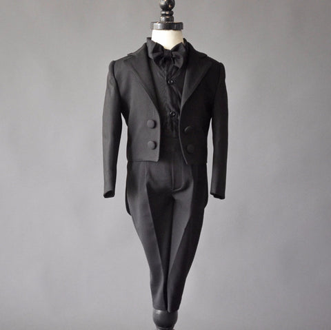 Charles Suit (Black) - Couture - Itty Bitty Toes