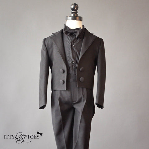 Charles Suit (Black) - Itty Bitty Toes  - 5