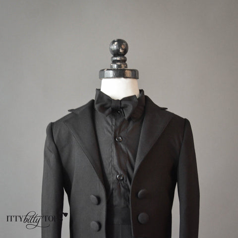 Charles Suit (Black) - Itty Bitty Toes  - 4