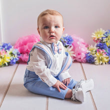 Christiano Suspenders Set (Blue & Pink) - Couture - Itty Bitty Toes