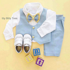 William Vest Set (Blue & Yellow)
