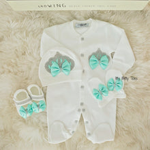 Crown Jewels Set (Mint) - Newborn Set - Itty Bitty Toes