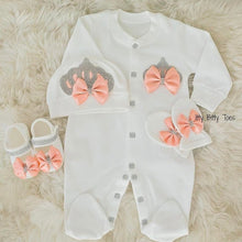 Crown Jewels Set (Peach) - Newborn Set - Itty Bitty Toes