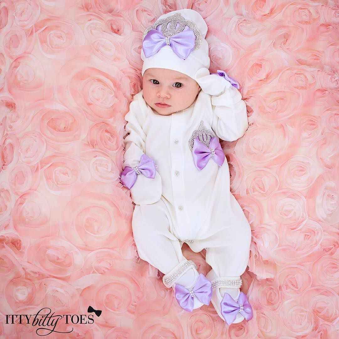 Crown Jewels Set (Purple) - Newborn Set - Itty Bitty Toes