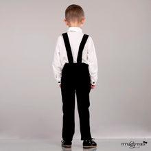 Connor Suspenders Set (Velvet Black)