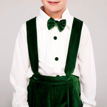 Connor Suspenders Set (Green Velvet)