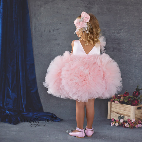Kloe Dress (Pink) - Couture - Itty Bitty Toes