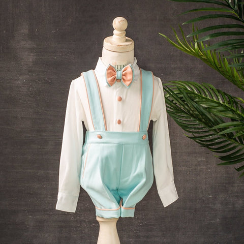 Charlie Shorts Set (Mint & Blush) - Couture - Itty Bitty Toes
