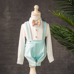 Charlie Shorts Set (Mint & Blush)
