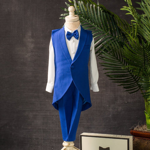 Crown Jewels Suit (Royal Blue) - Couture - Itty Bitty Toes