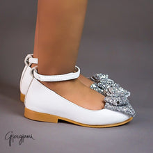 Alba 73 (White & Silver) - Shoes - Itty Bitty Toes