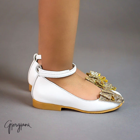 Alba 75 (White & Gold) - Itty Bitty Toes  - 2
