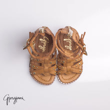 Gladiator Tan - Shoes - Itty Bitty Toes