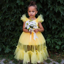 Matilda Dress (Yellow) - Couture - Itty Bitty Toes