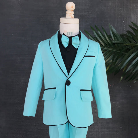 Alex Suit (Tiffany Blue) - Couture - Itty Bitty Toes