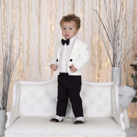 Charles Suit (Black & White) - Itty Bitty Toes  - 2
