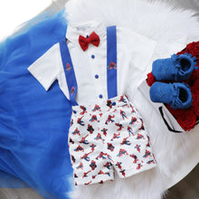 Spiderman Inspired Suspenders Set - Couture - Itty Bitty Toes