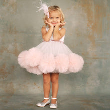 Lucy Dress (Gray & Pink) - Couture - Itty Bitty Toes