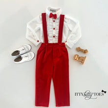 Connor Suspenders Set (Velvet Red)