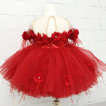 Short Nicolina Dress (Red) - Couture - Itty Bitty Toes