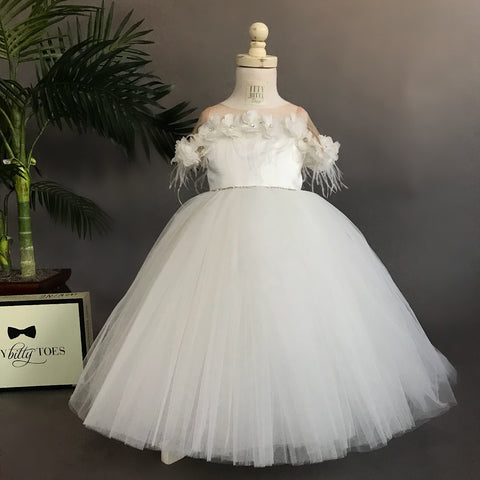 Nicolina Dress (White) - Couture - Itty Bitty Toes