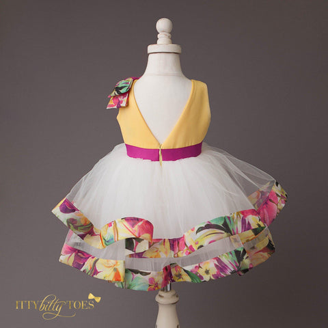 Sia Dress (Yellow) - Couture - Itty Bitty Toes