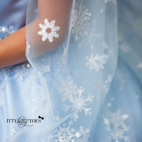 Elsa Inspired Dress - Couture - Itty Bitty Toes