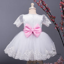 Princess Julia Dress [White & Pink]
