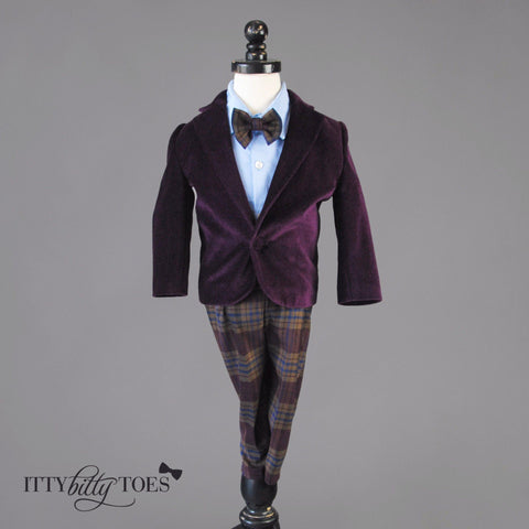 Charles Suit (Purple) - Itty Bitty Toes  - 1