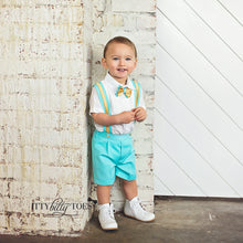 Christiano Shorts Set (Mint & Gold) - Couture - Itty Bitty Toes